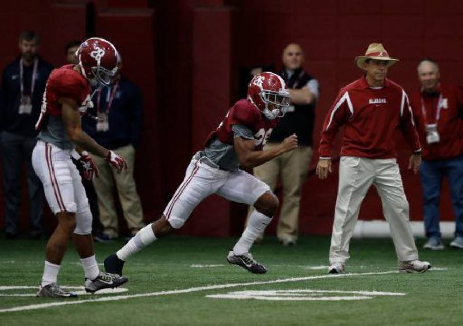 "Saban says practice toward Peach Bowl matchup with Huskies has gone ""fairly well."" (via Crimson Magazine)"