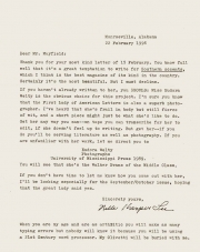 Eloquent Rejection: A Letter from Harper Lee