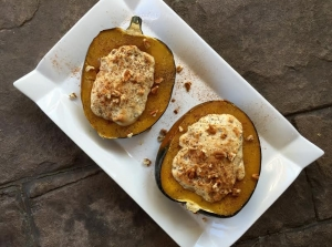 Thanksgiving Recipes: Pecan Stuffed Acorn Squash and Pear Cake